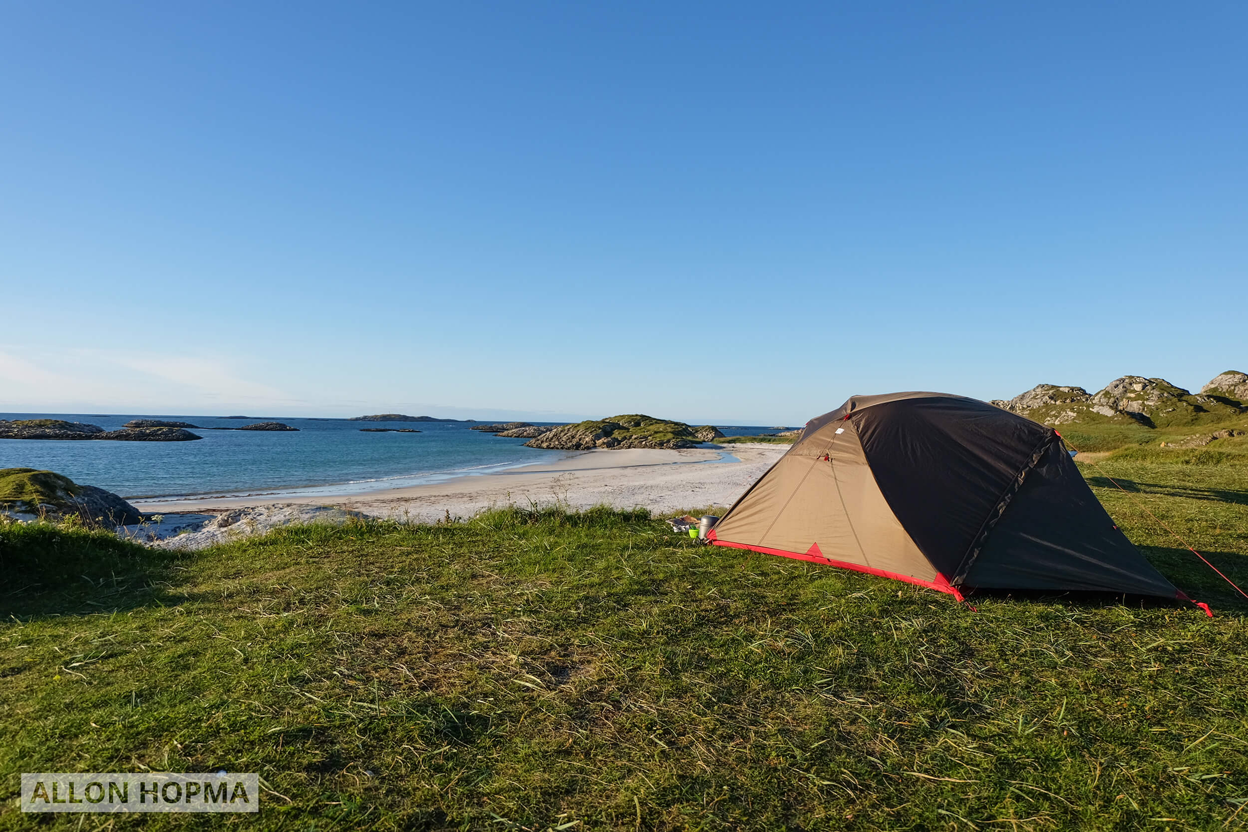 Tent at sea in Norway