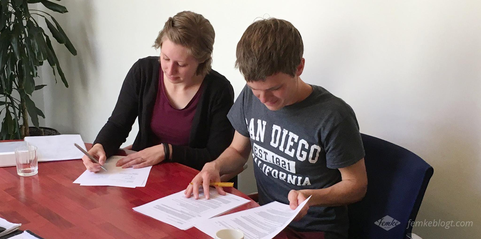 femke blogt - contract tekenen