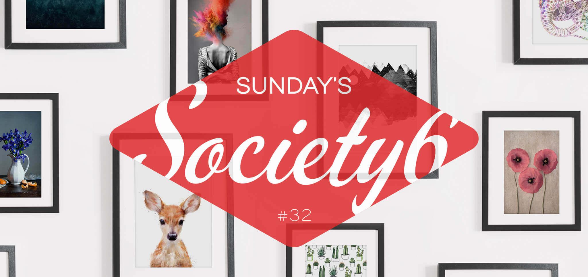 Sunday's Society6 #32 | Color block