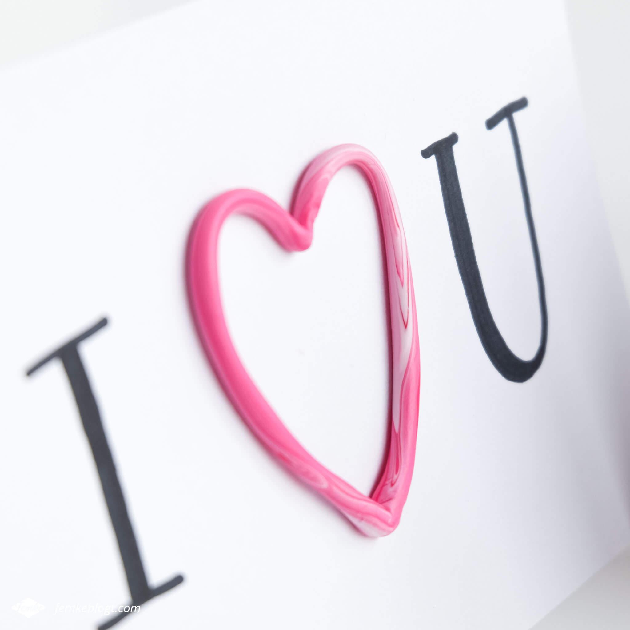 DIY valentijnshartjes van FIMO klei   Maak een Valentijnskaartje met 3D hart van FIMO klei