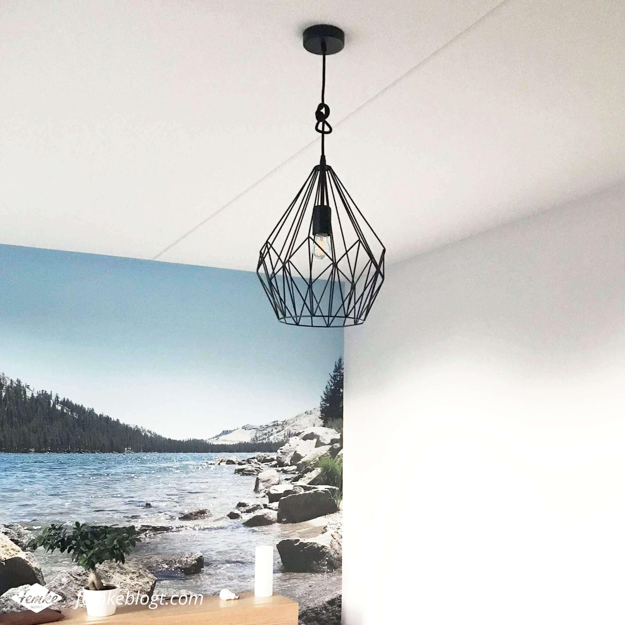 Maandoverzicht oktober   Lamp op de slaapkamer, Eglo hanglamp
