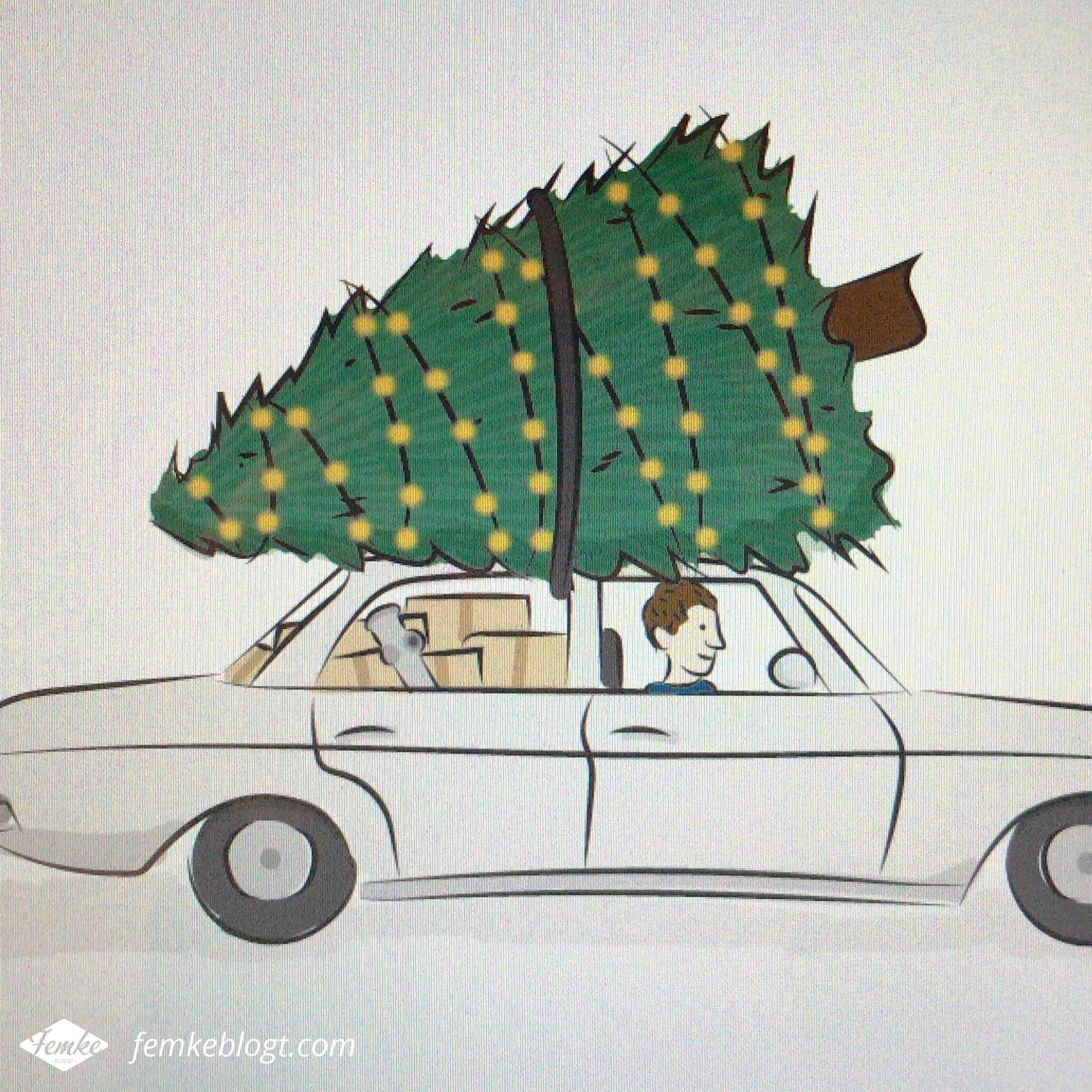Verhuiskaart ontwerp New year, new home! | De illustratie van de auto is ingekleurd en zo goed als af.