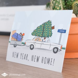 Verhuiskaart ontwerp New year, new home!