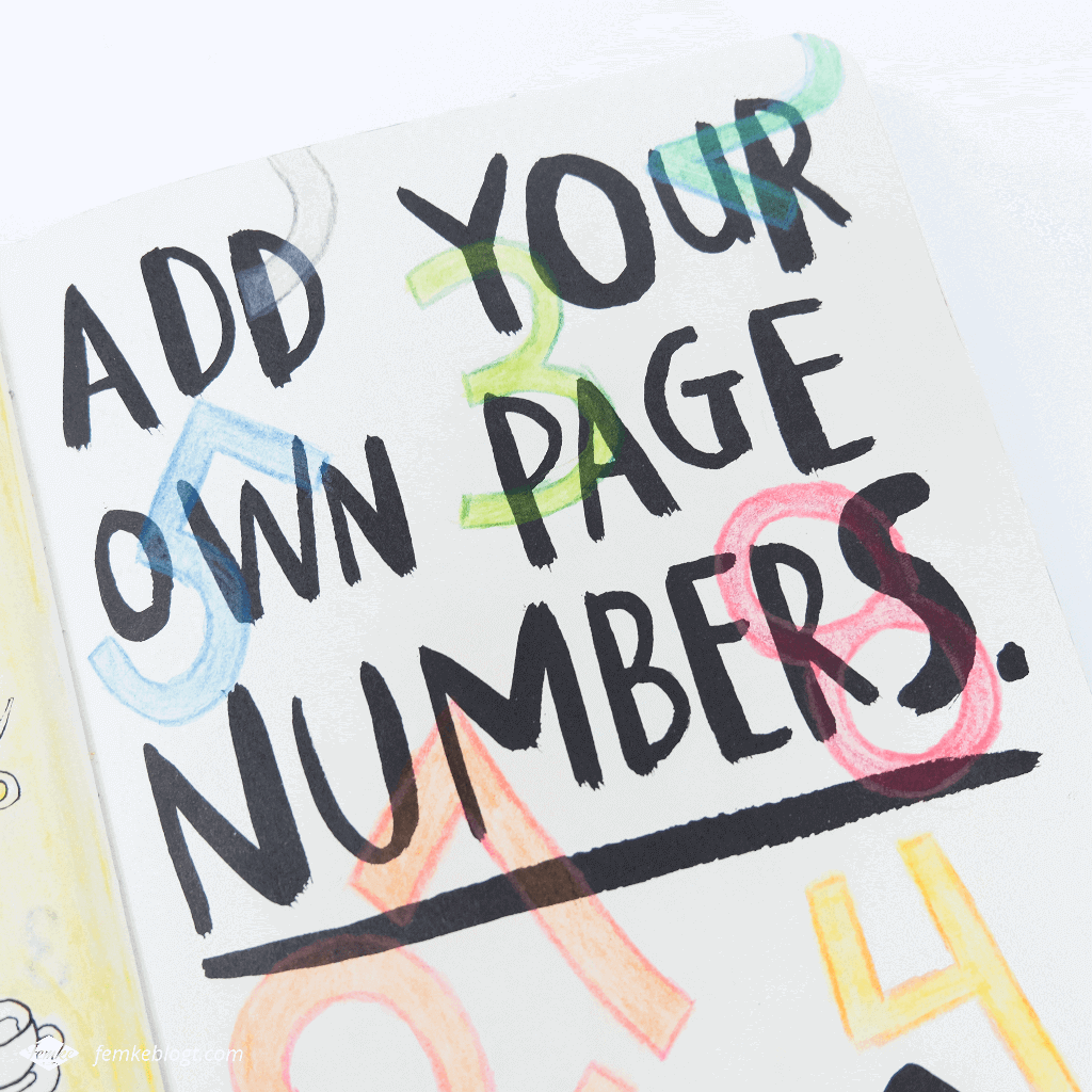 Wreck my journal | Add your own page numbers