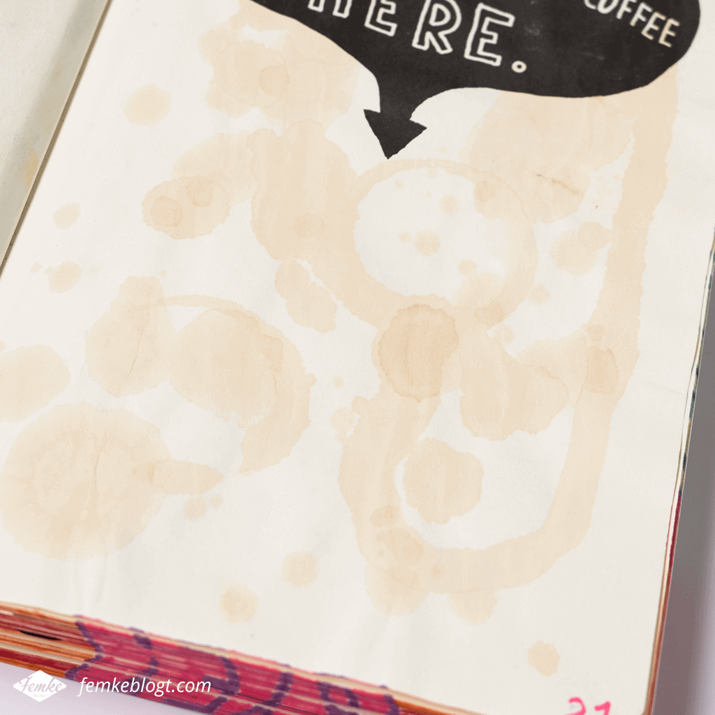 Wreck my sketchbook | Wreck this journal, Pour, spill, drip, spit, fling your coffee here
