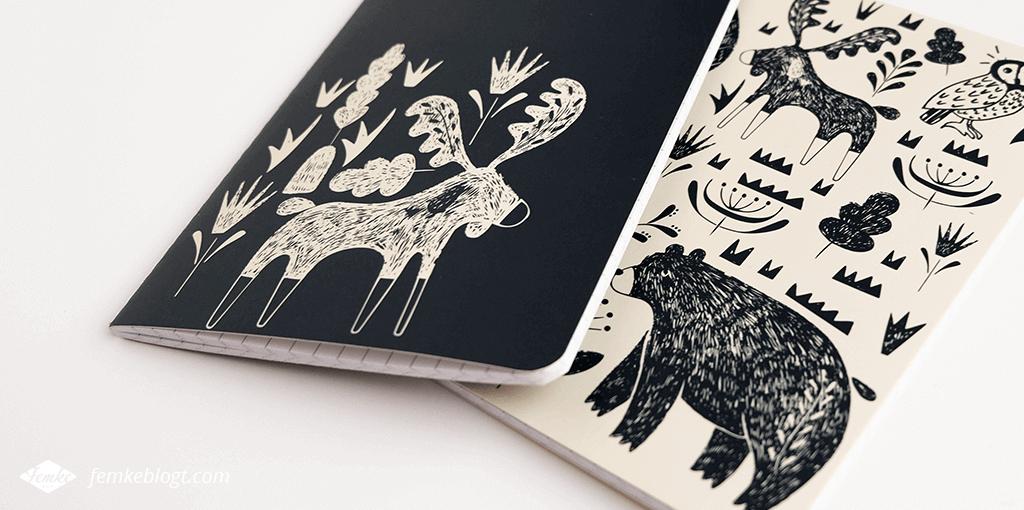 Mijn favoriete notitieboekjes   Scandinavisch notitieboekje met rendier en beer