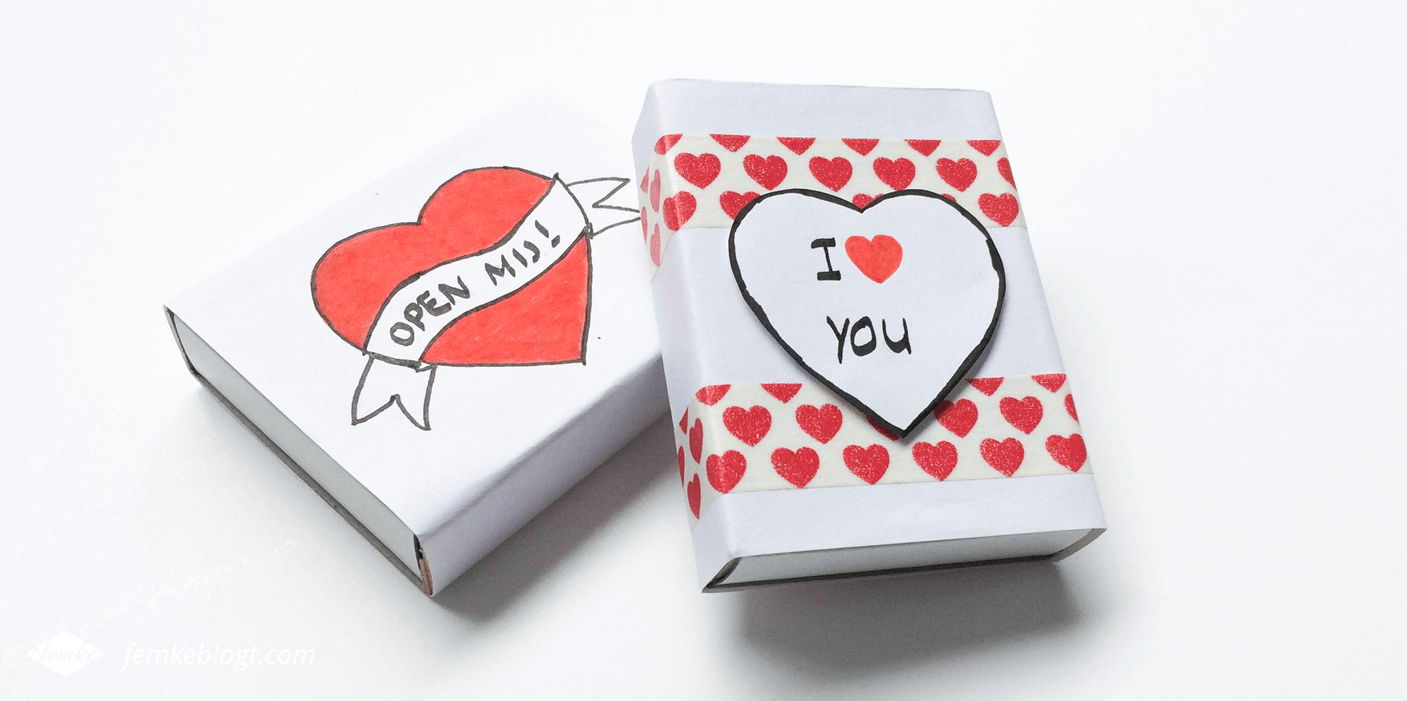 Valentijnsdag DIY | Message box