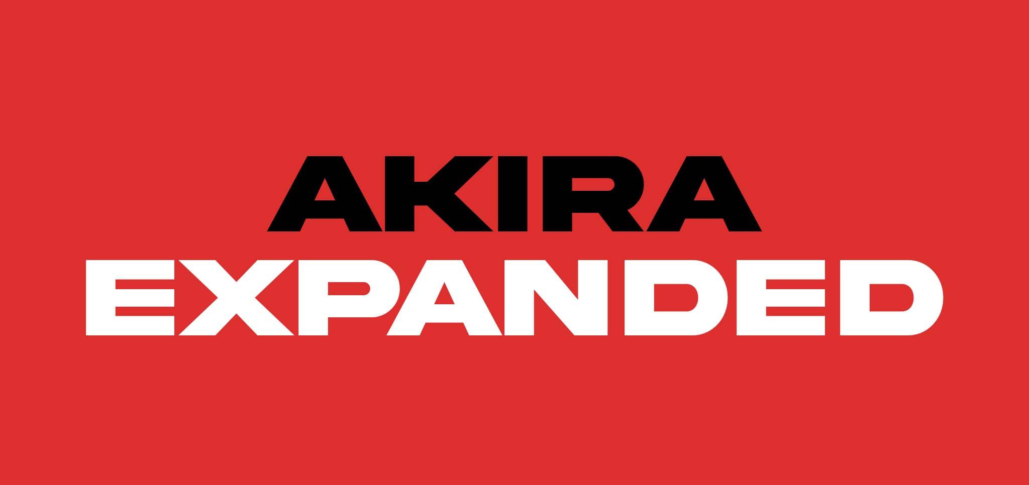 21 gratis stoere lettertypes - Akira Expanded