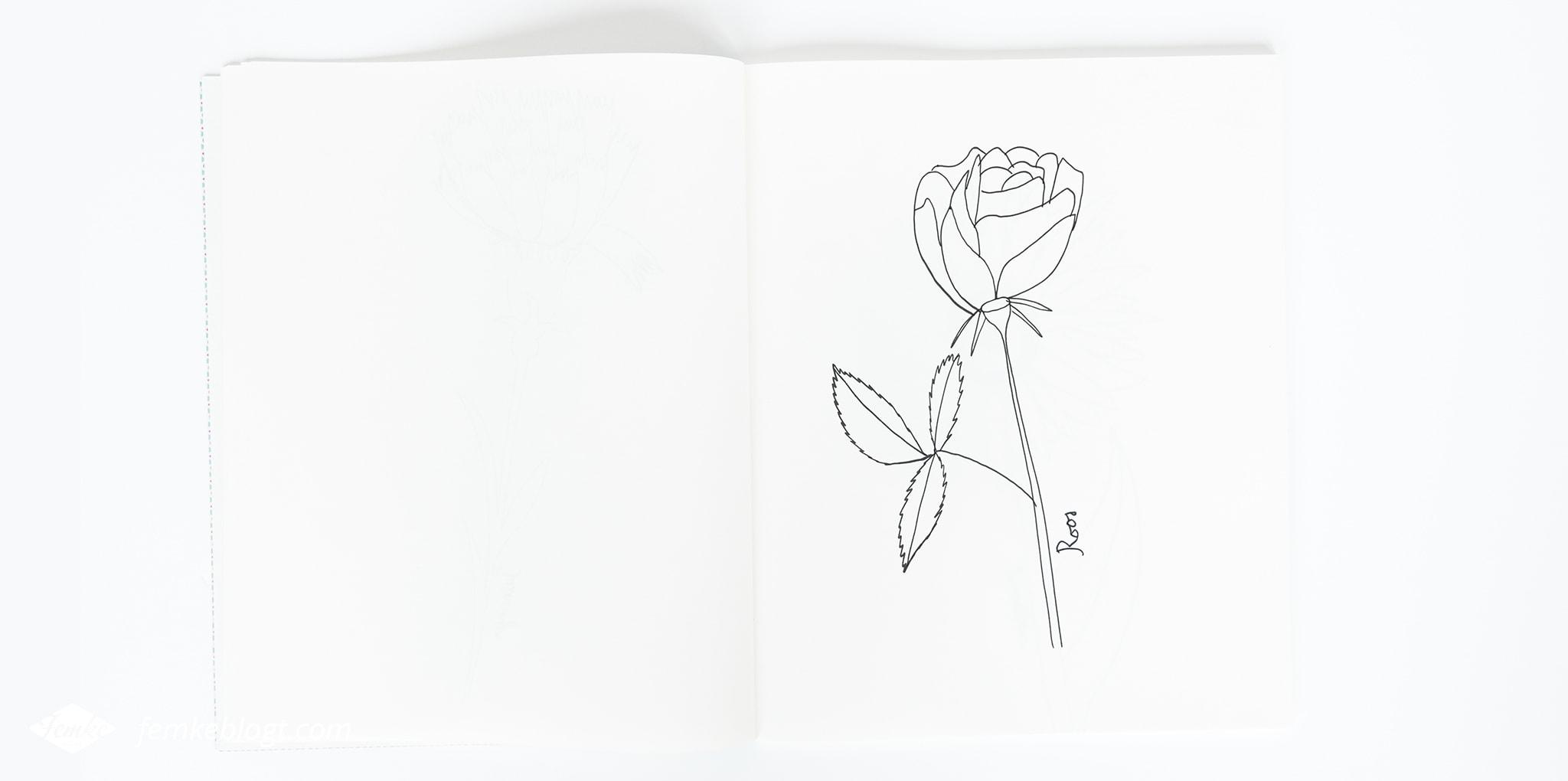 Verwonderlijk 31 Dagen bloemen #9 - Roos tekenen – Femke blogt HT-26