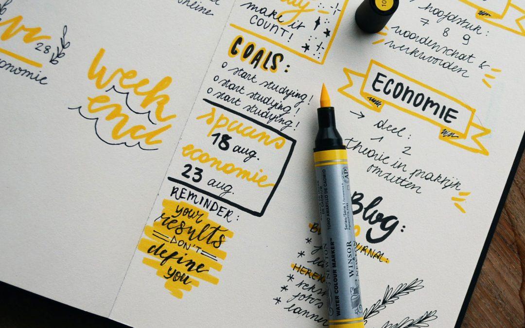 9x Creatieve ideeën voor je bullet journal