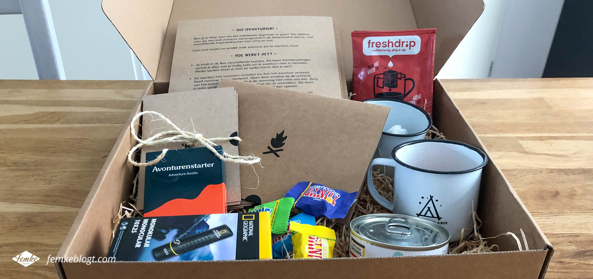 Inhoud Adventure in a Box