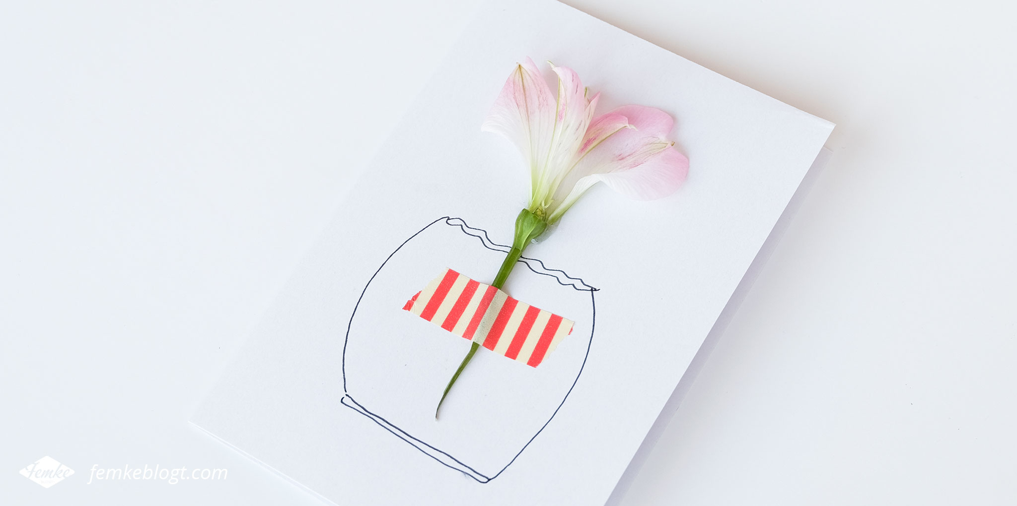 DIY Moederdag bloemen kaart   Maak je eigen kaart met fleurige bloemen voor Moederdag, met deze simpele DIY