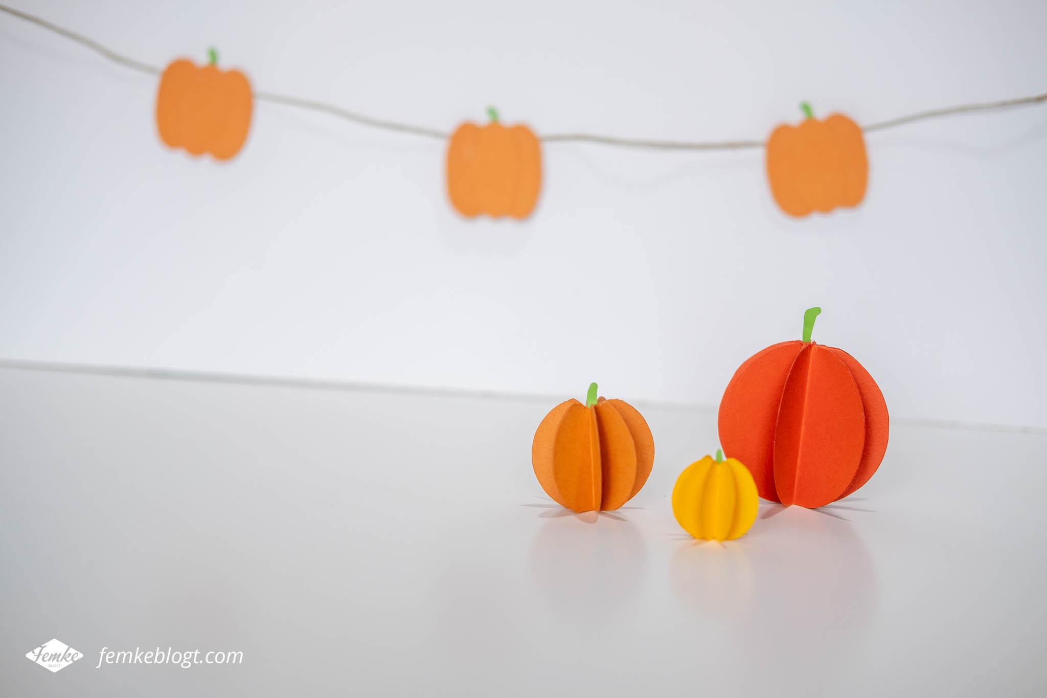 DIY Versier je huis met pompoenen van papier