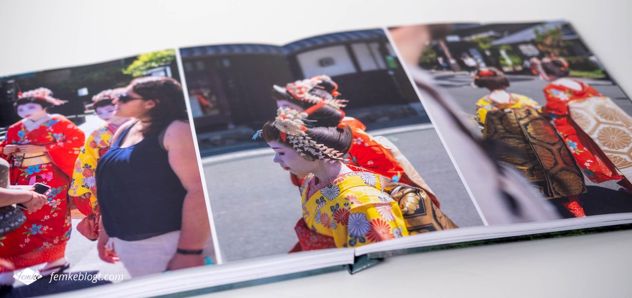 Vlakliggend fotoboek Japan Fotofabriek