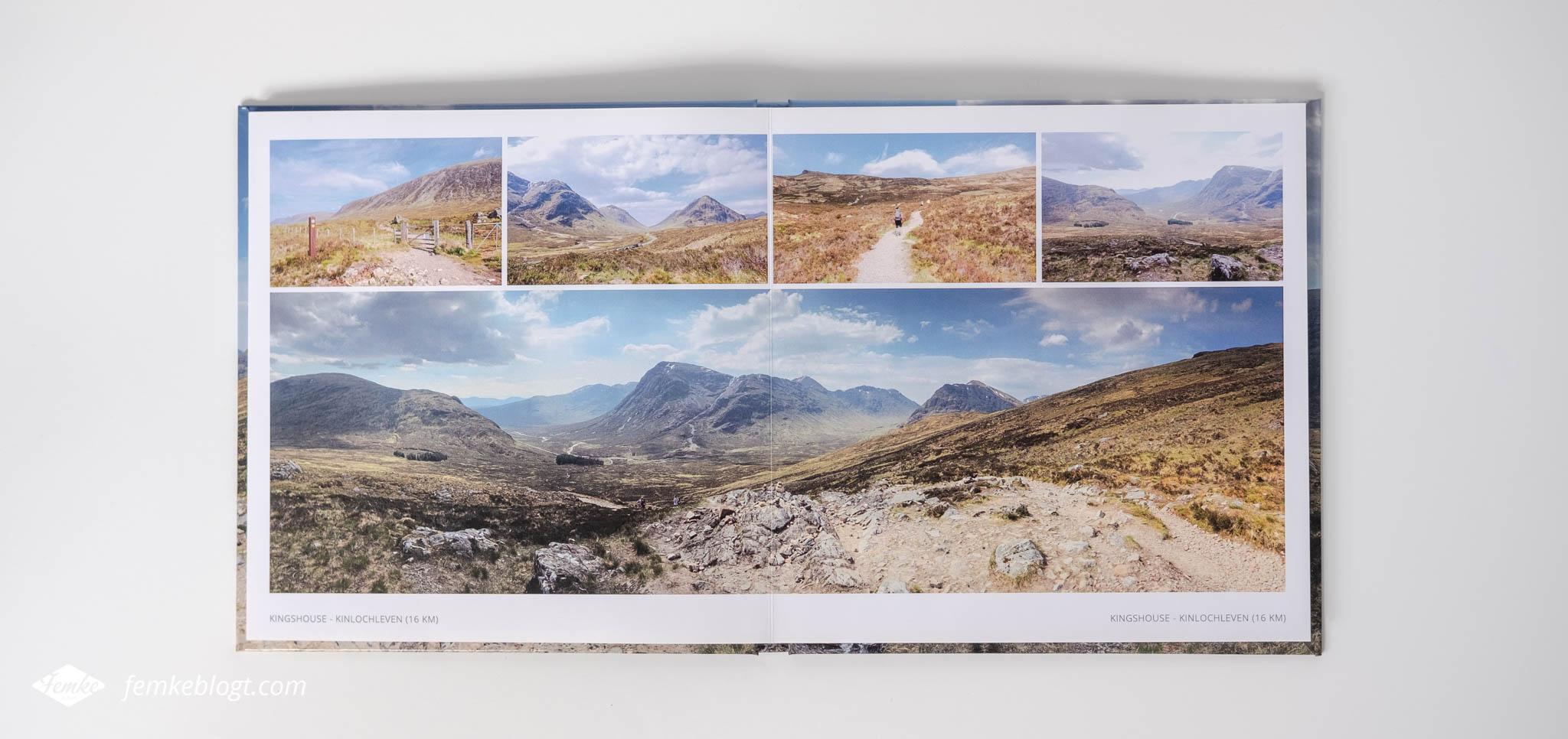 Vlakliggend fotoboek Schotland panoramafoto Fotofabriek