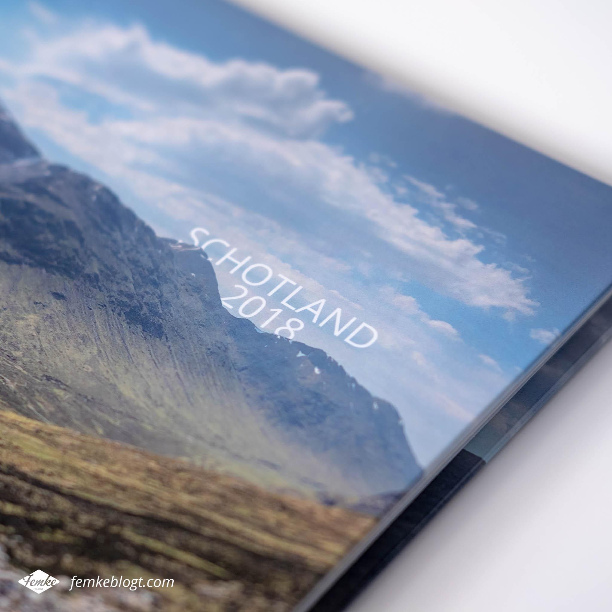 Fotoboek Schotland voorkant