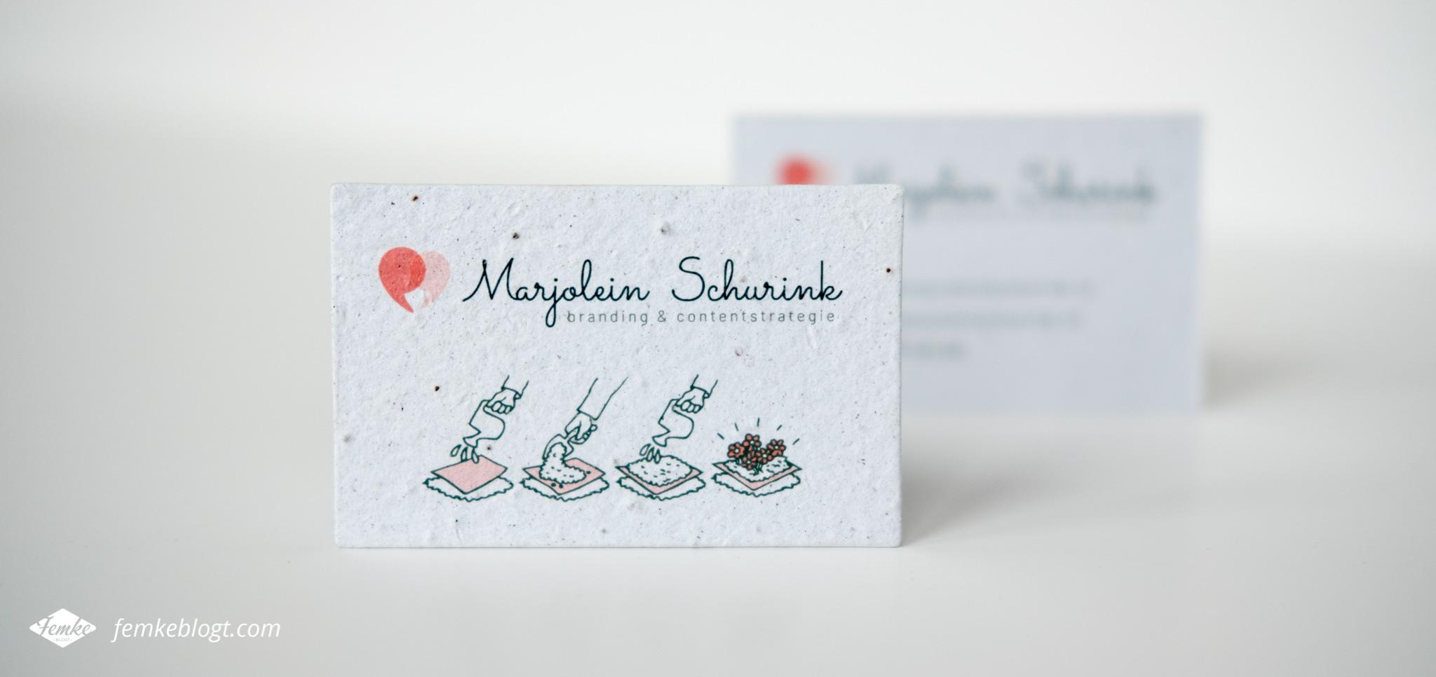 Visitekaartjes Marjolein Schurink