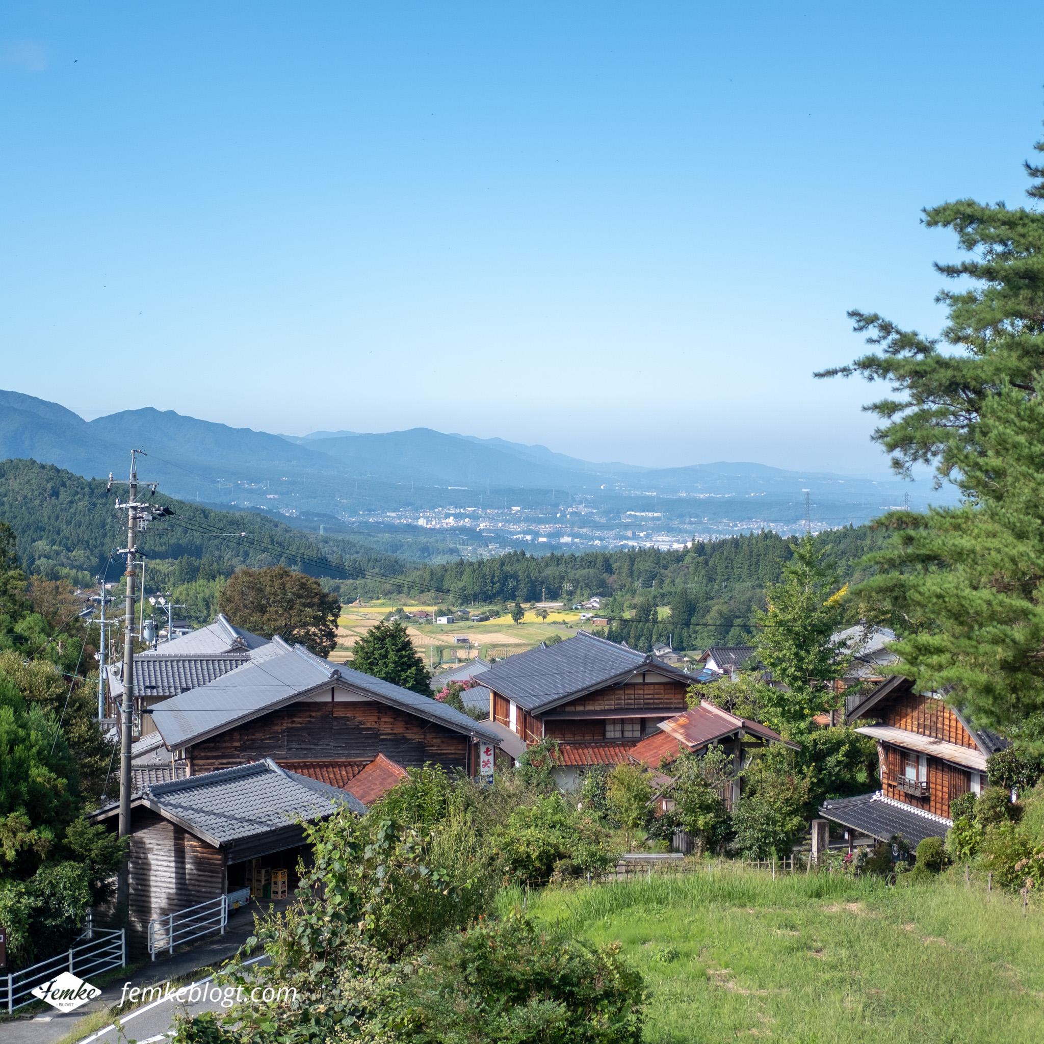 Nakasendo trail van Magome naar Tsumago in Japan
