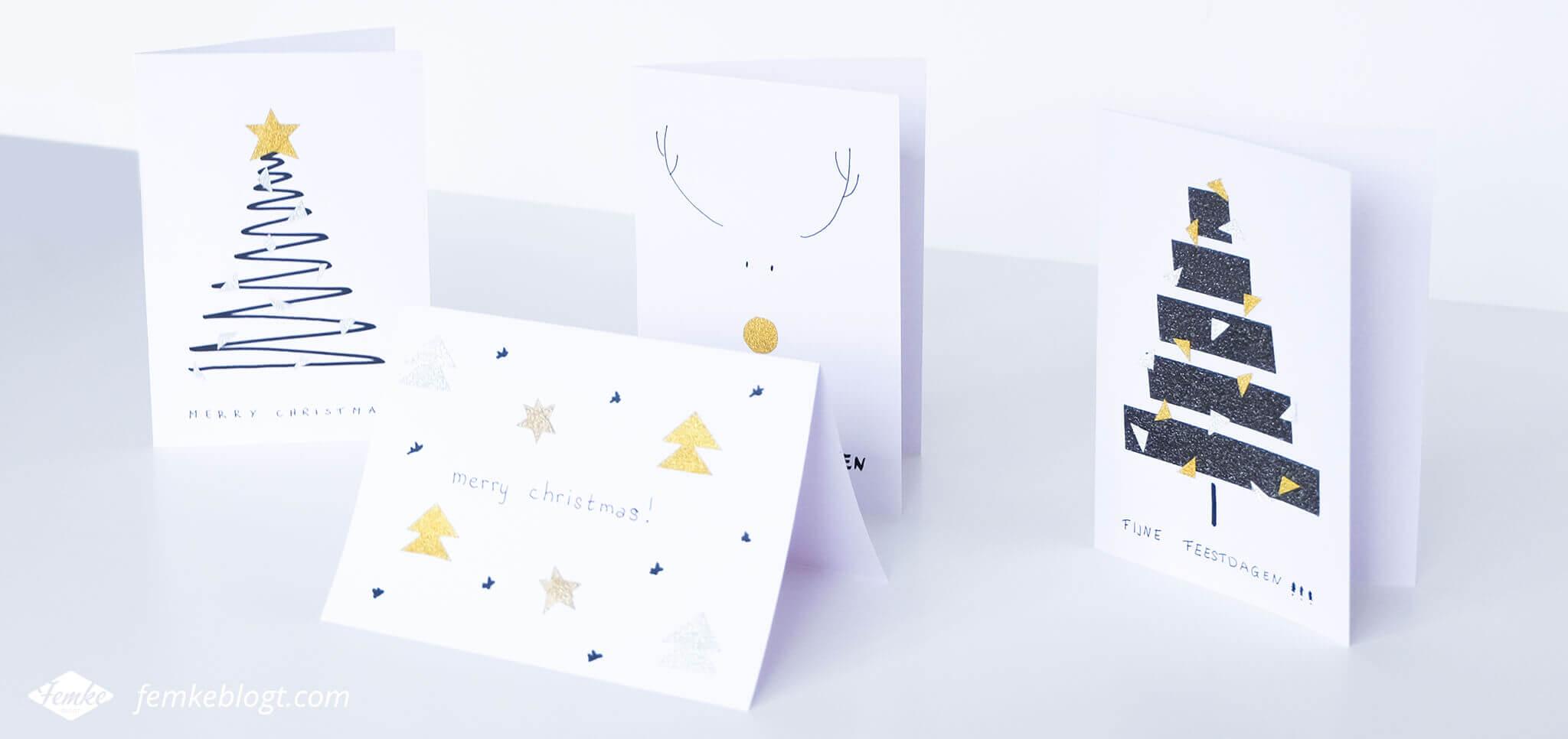 DIY | Maak je eigen kerstkaarten met glitter washi tape