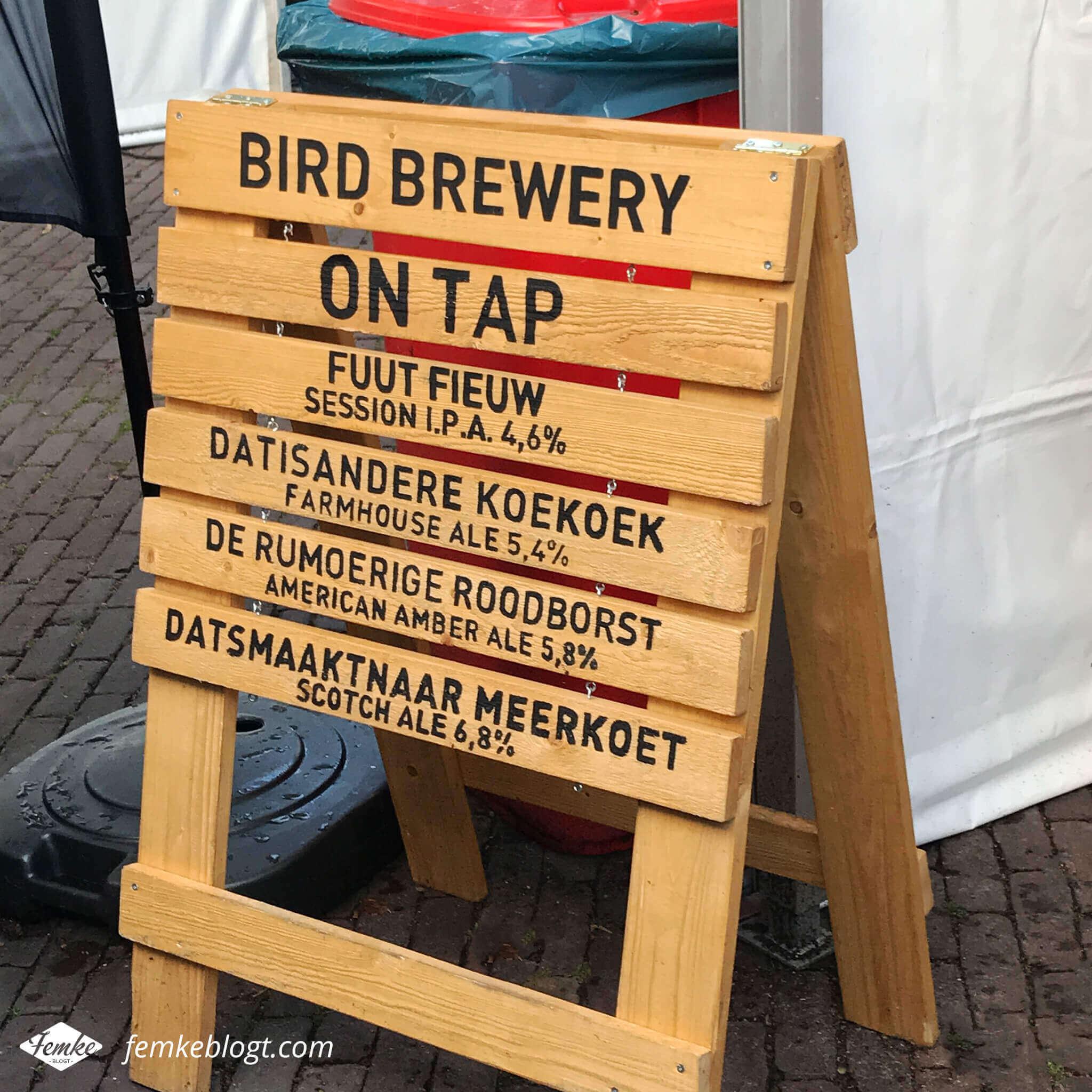 Maandoverzicht september | Bierfestival Dalfsen, grappige biernamen van Bird Brewery